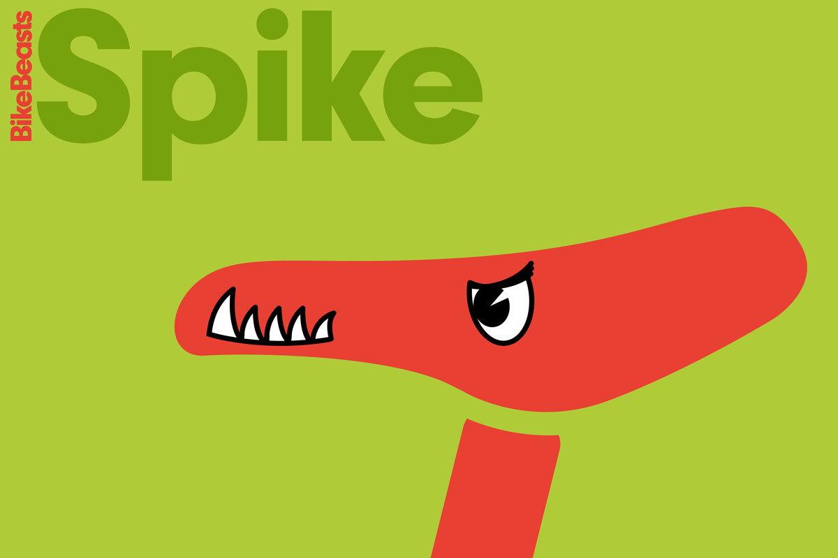 "BikeBeasts ""Spike"" Aufkleber Fahrradsattel"